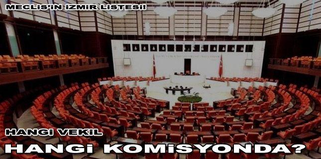 Meclis'in İzmir listesi: Hangi vekil-hangi komisyonda?