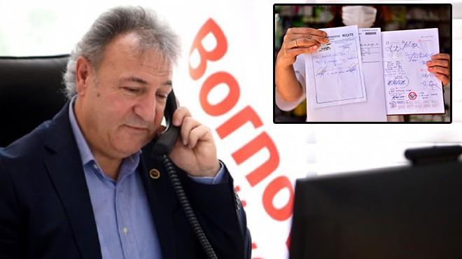 'Askıda Reçete' Bornova'da ilk bağış Başkan İduğ'dan