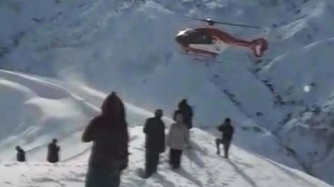 'Kahvedeyim helikopter beni burdan alsın'
