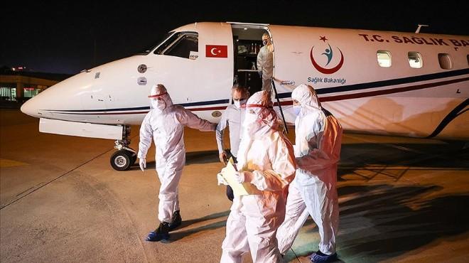 3 Türk vatandaşı ambulans uçakla Türkiye'ye getirildi