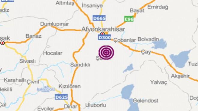 Afyonkarahisar'da 3,5 şiddetinde deprem
