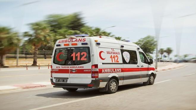 Afyonkarahisar'da devrilen motosikletteki 2 kişi yaralandı