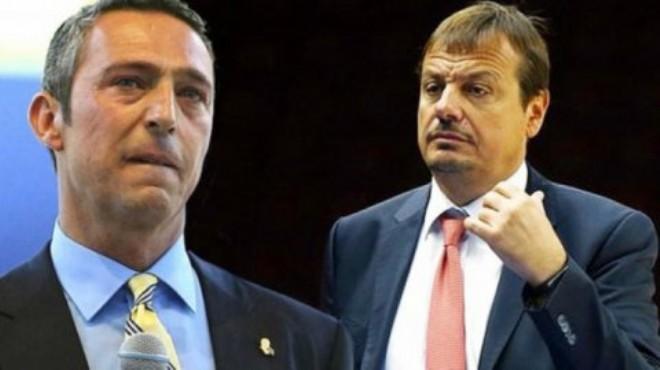 Ali Koç: Ergin Ataman fair playden bahsedecek son kişidir