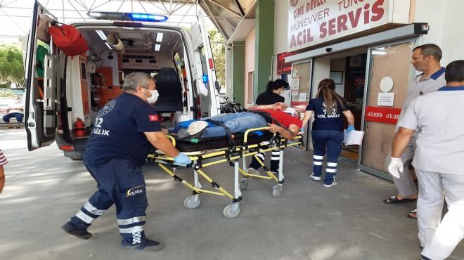 Aydın'da bariyerlere çarpan motosikletin sürücüsü yaralandı