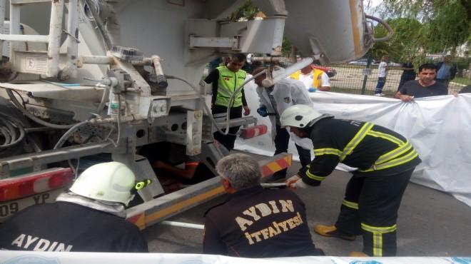 Aydın'da beton mikseri motosikletle çarpıştı: 1 ölü, 1 yaralı