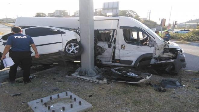 Aydın'da korkunç kaza: 15 yaralı!