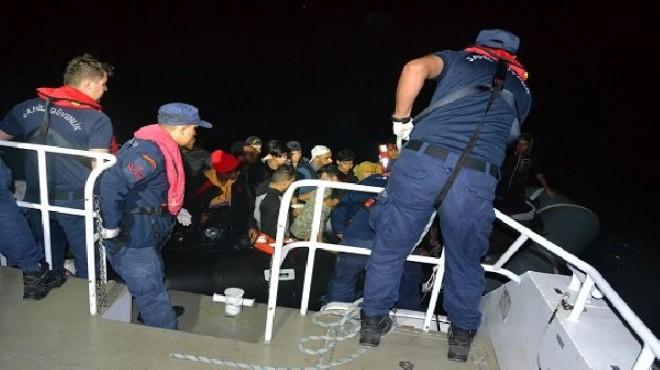 Ayvalık açıklarında 35 kaçak göçmen yakalandı