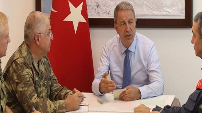 Bakan Akar'dan sınır birliklerine denetleme