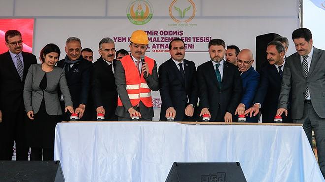 Bakan Pakdemirli İzmir'de temel atma törenine katıldı