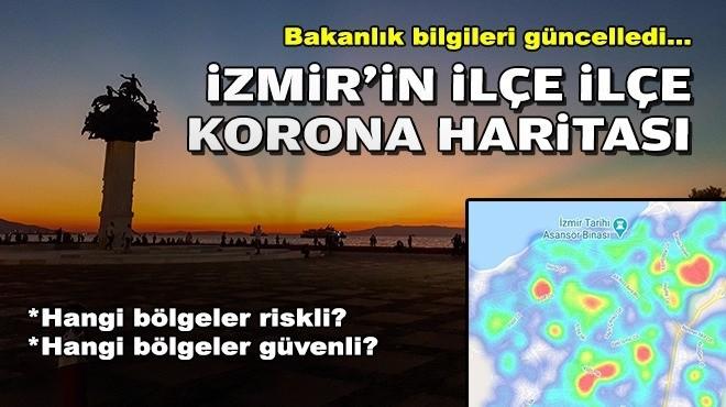 Bakanlık bilgileri güncelledi: İzmir'in ilçe ilçe korona haritası