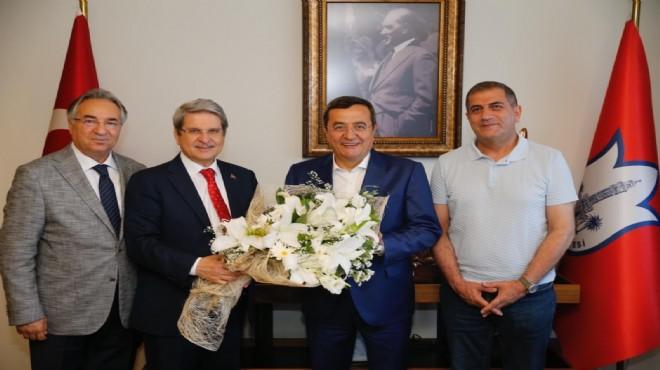 Başkan Batur'a 'İYİ' ziyaret