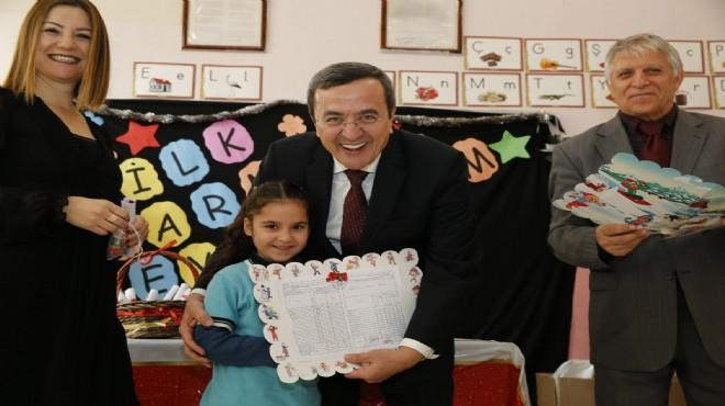 Başkan Batur karne heyecanına ortak oldu