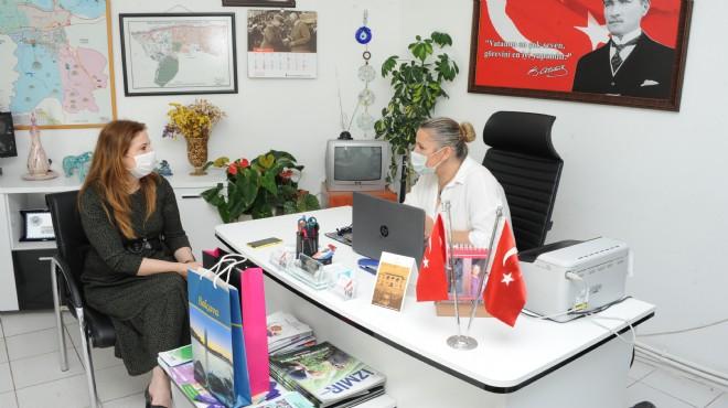Başkan Çalkaya'dan muhtarlara bayram ziyareti