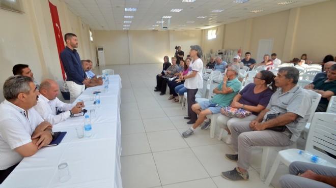 Başkan Gürbüz Foça'nın dört bir yanında halkı dinledi