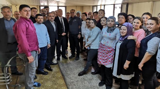 Başkan Selvitopu'ndan tekstil işçilerine ziyaret