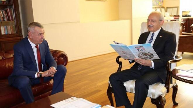 Başkan Şenol'dan lidere ziyaret: Gaziemir'i anlattı, açılışa davet etti