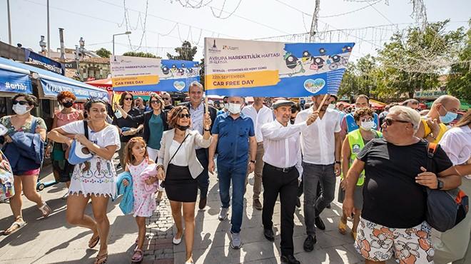 Başkan Soyer çevre farkındalığı için yürüdü