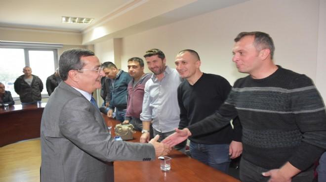 Belediye İş'ten Başkan Batur'a tam destek