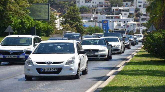 Bodrum'a son 3 günde 300 bine yakın araç giriş yaptı