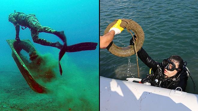 Bodrum'da denizin dibinden öyle şeyler çıktı ki...