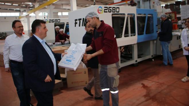 Başkan Doğruer'den fabrika ziyareti