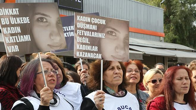 Bucalı kadınlar haykırdı: Şiddete Hayır!