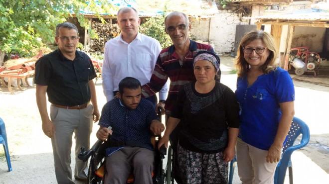 Büyükşehir'den engelli gence yardım eli
