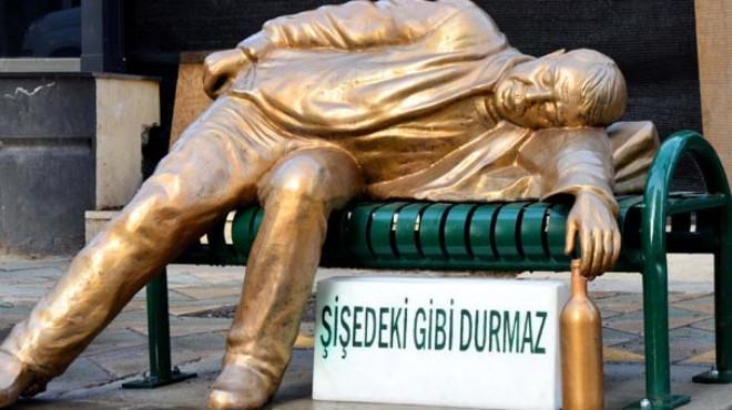 Gören şaştı: Büyükşehir'den ilginç heykel!