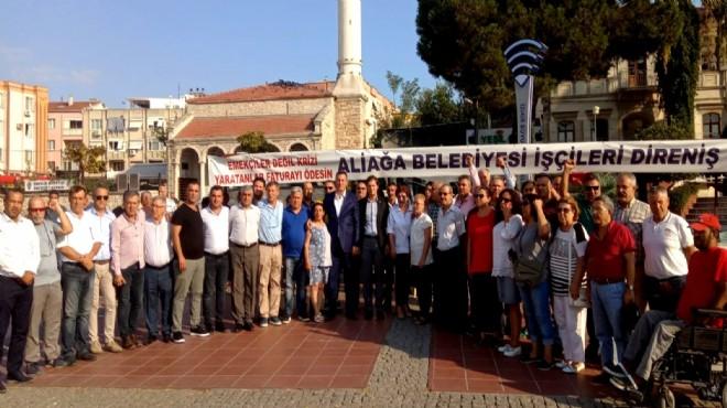 CHP İzmir den atılan işçilere destek!
