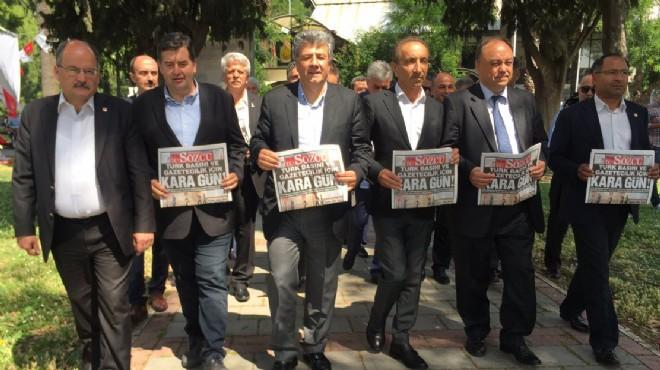 CHP İzmir den yargı kararları için  voltalı  protesto!