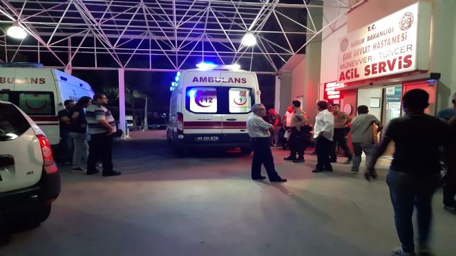 Çine'de düğünde havaya ateş açıldı: 4 yaralı