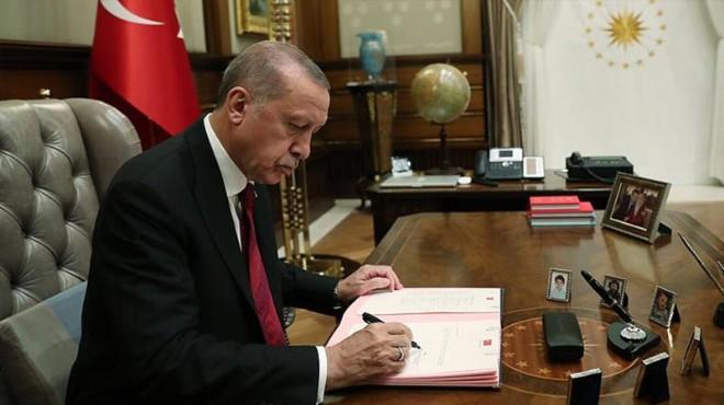 Cumhurbaşkanı Erdoğan'dan 3 bakanlığa 13 atama
