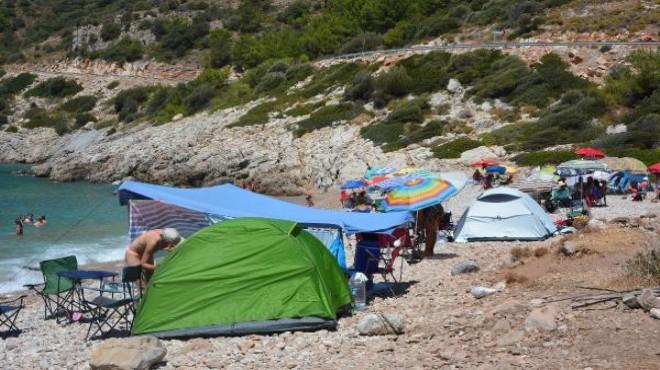 Datça'da kamp alanı dışına çadır kurana 3 bin 150 TL ceza!