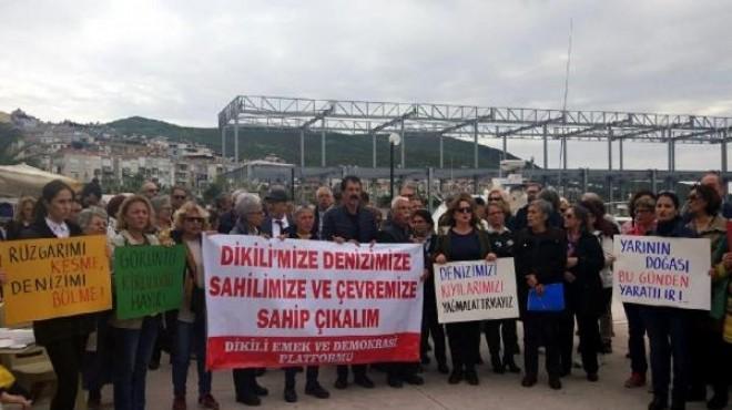 Küçük Liman'da yapılan inşaatın durdurulması için eylem!