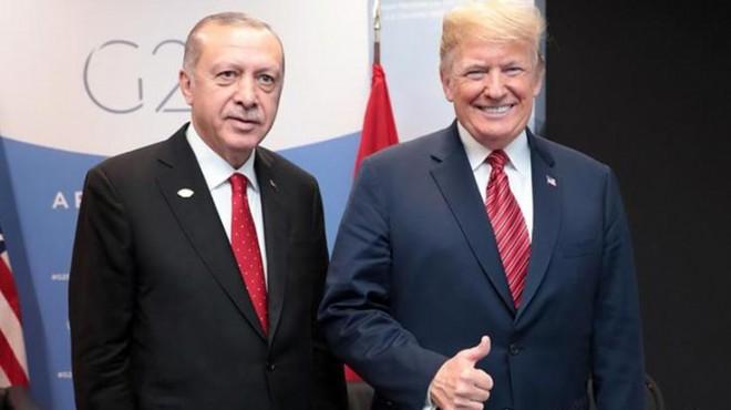 Donald Trump'tan Erdoğan'a teşekkür