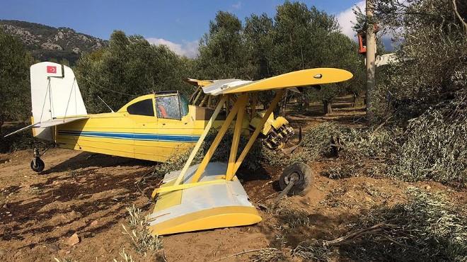 Edremit'te ilaçlama uçağı düştü!