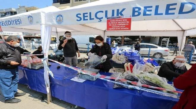 Efes Selçuk Belediyesi halk için tezgah başına geçti