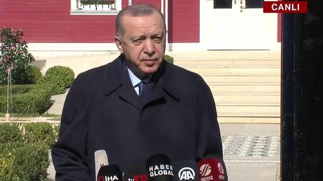 Erdoğan'dan İzmir Büyükşehir'e eleştiri: Gördünüz, tedbir yok, atılan adım yok!