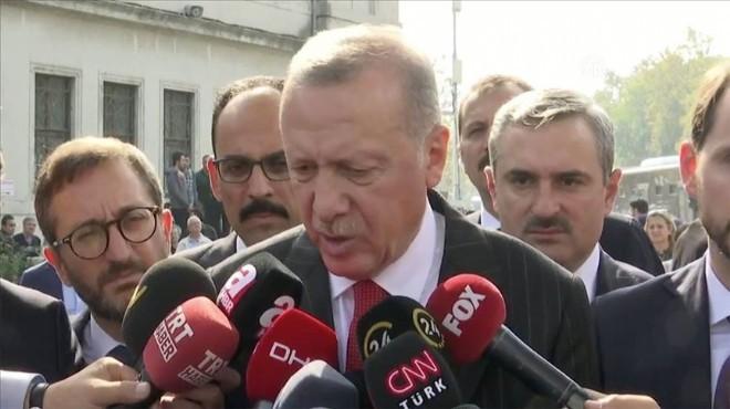 Erdoğan'dan anlaşma sonrası ilk açıklama