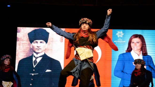 Farklı yörelerin dans kültürleri Aydın'da buluştu