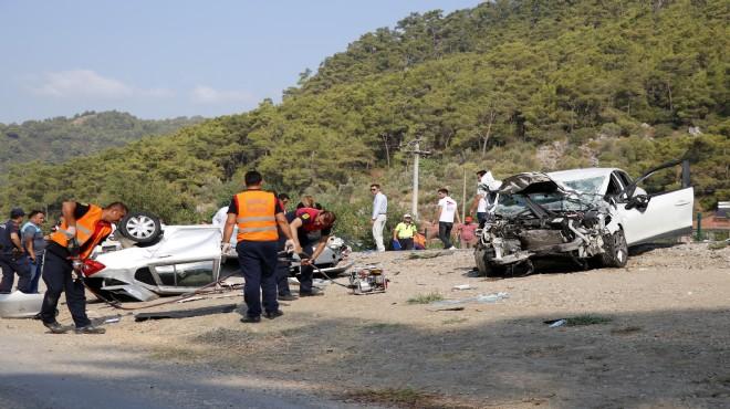 Fethiye'de feci kaza: 1 ölü, 1 yaralı