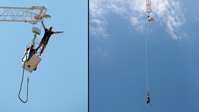 Fethiye'de tatilcilerin 'bungee jumping' heyecanı