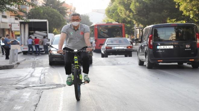 Gaziemir'de Başkan Arda'dan bisikletli mesai