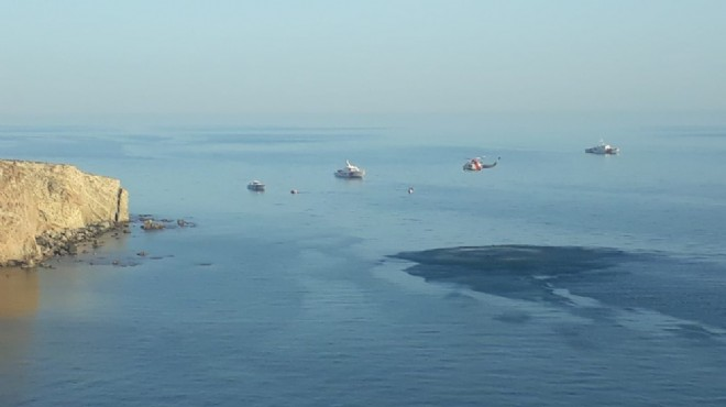 Gökçeada'da alabora olan teknenin yeri tespit edildi