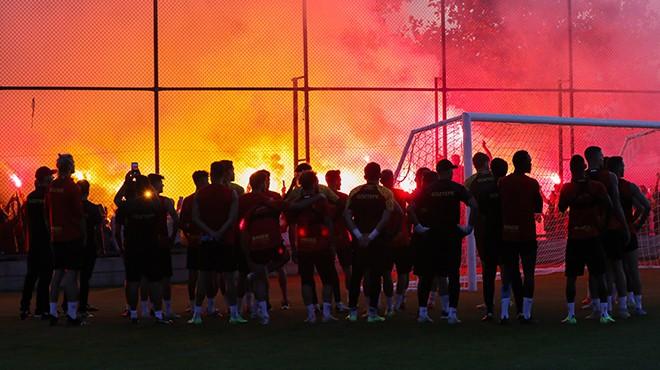 Göztepe'de Altay maçı öncesi coşkulu antrenman