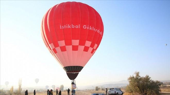 İlk yerli balon Kapadokya semalarında!