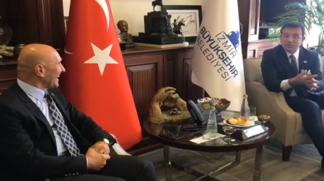 Soyer le buluşan İmamoğlu: İzmir deyim, coşmak istiyorum!