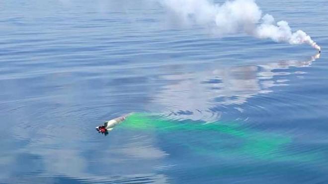 İzmir açıklarında denizaltı eğitimi
