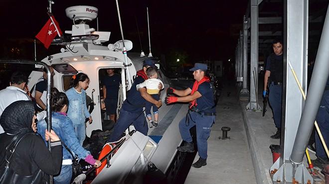 İzmir'de 75 kaçak göçmen yakalandı!