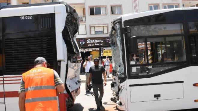 İzmir'de belediye otobüsleri çarpıştı: 11 yaralı!